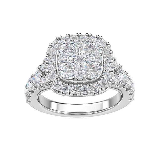 2.00 Carat Lab-Grown Diamond Engagement Ring in 14K White Gold (G-H/SI1)