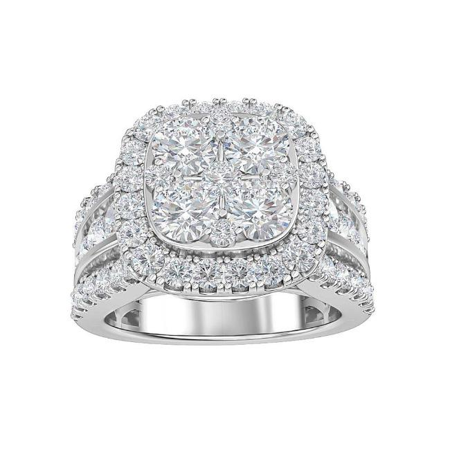 3.00 Carat Lab-Grown Diamond Engagement Ring in 14K White Gold (G-H/SI1)