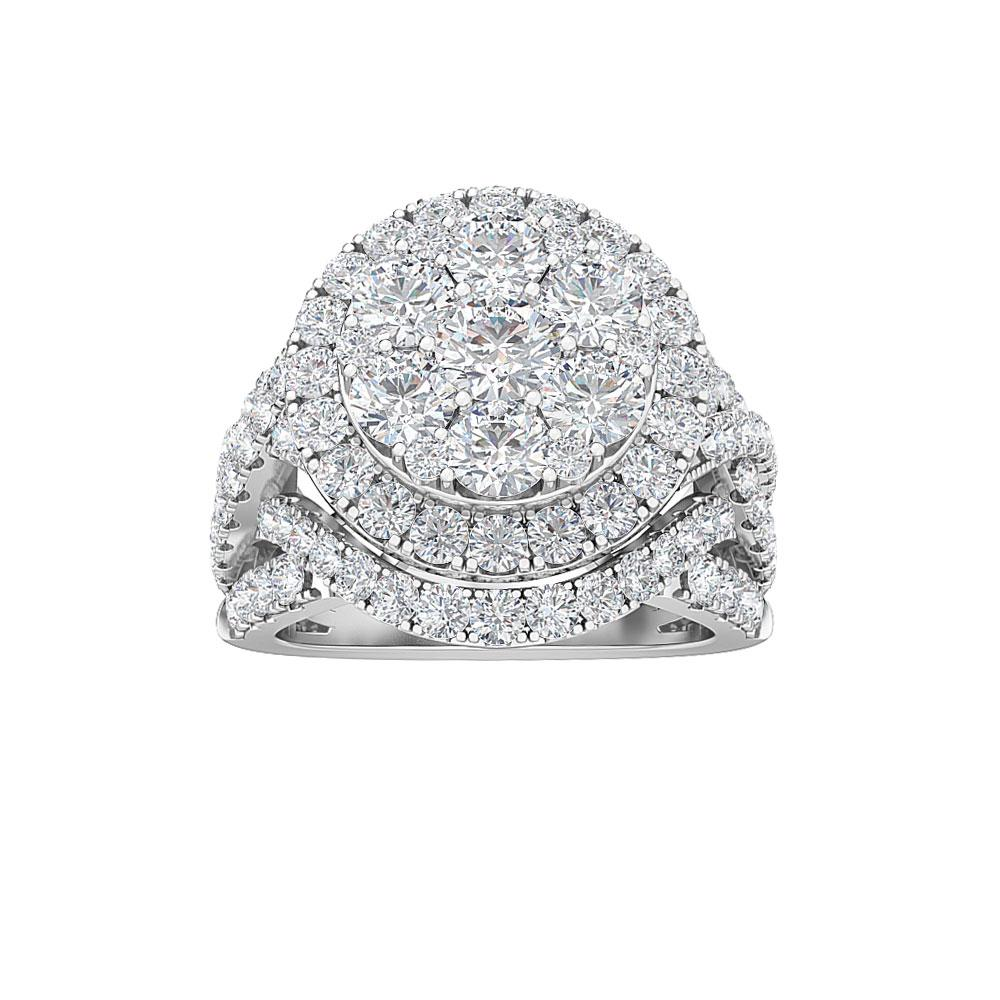 3.00 Carat Lab-Grown Diamond Engagement Ring in 14K White Gold (G-H/SI2)