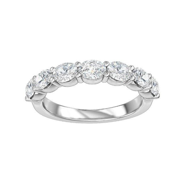 1.50 Carat Lab-Grown Diamond Anniversary Band in 14K White Gold (G-H/SI1)