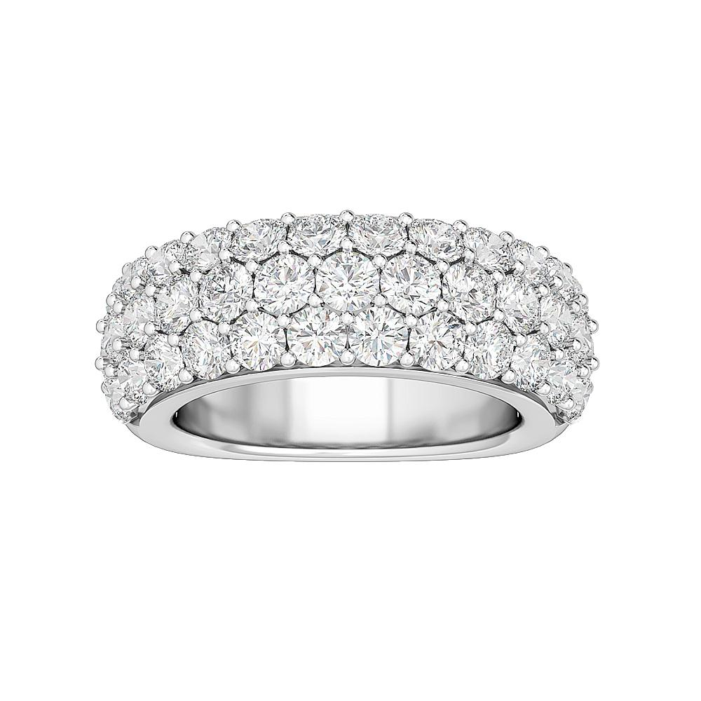 3.00 Carat Lab-Grown Diamond Anniversary Band in 14K White Gold (G-H/SI1)