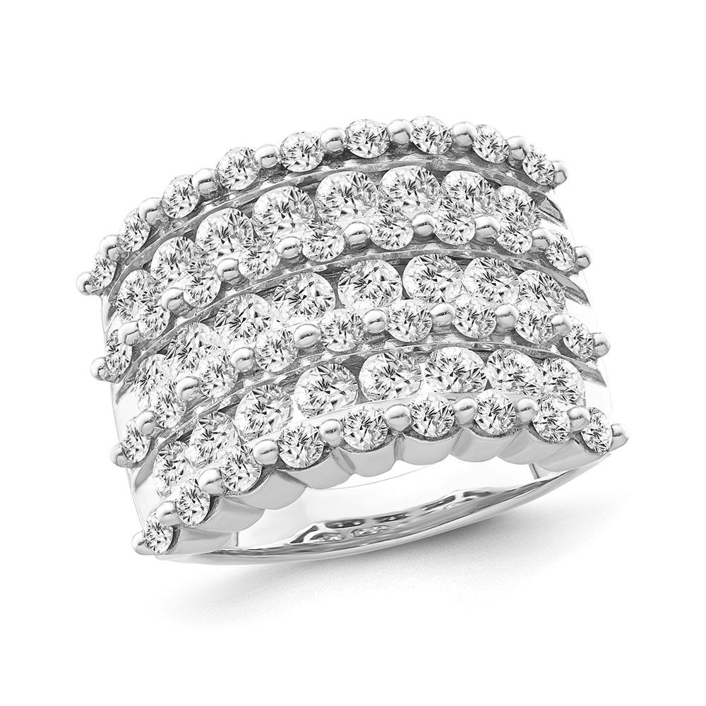3.00 Carat Diamond Ring in 14K White Gold