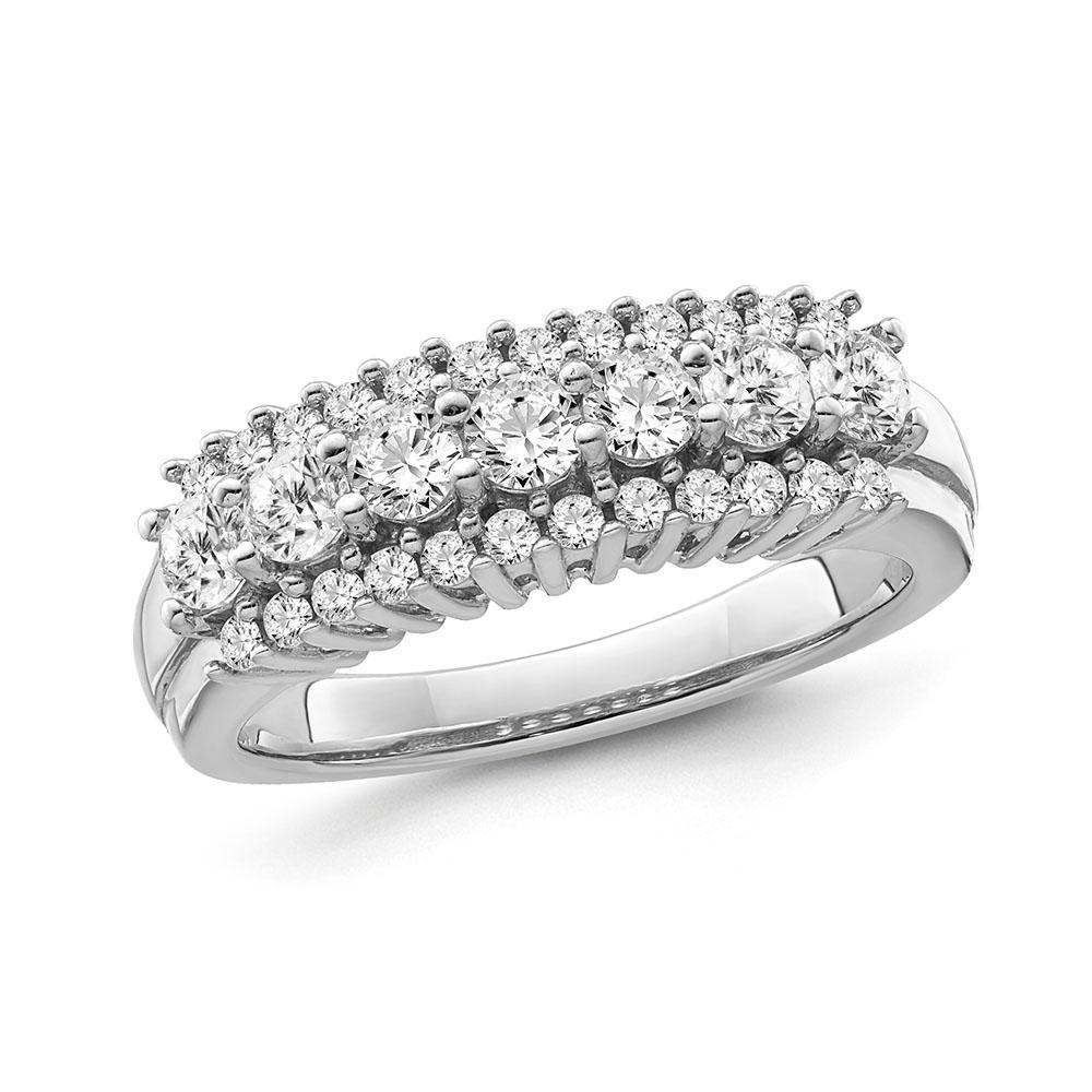 1/2 Carat Diamond Anniversary Band in 14K White Gold