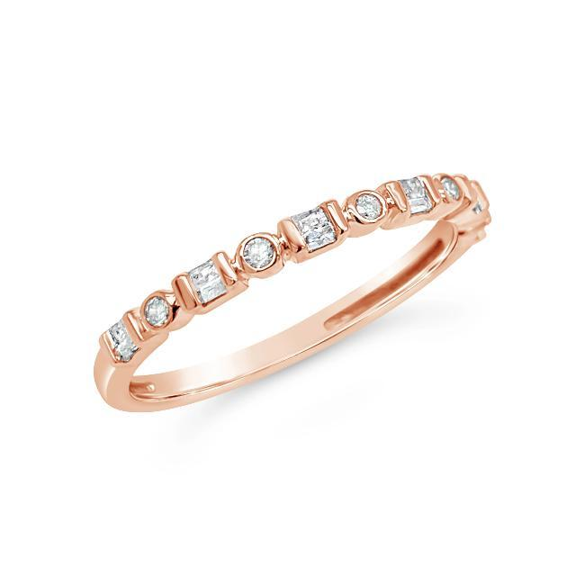 1/8 Carat Diamond Fashion Band in 10K Rose Gold