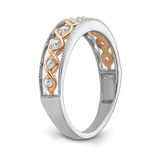 Load image into Gallery viewer, 1/4 Carat Diamond Fashion Band in Two-Tone 10K Gold