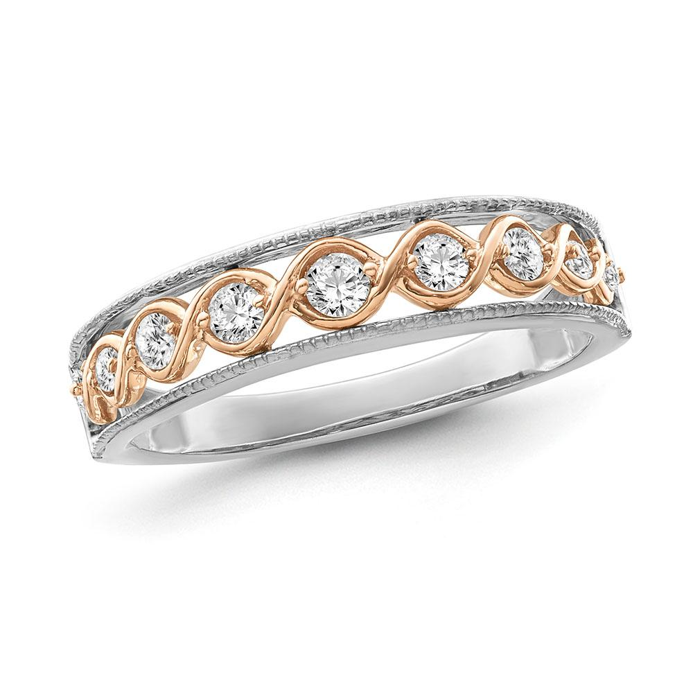 1/4 Carat Diamond Fashion Band in Two-Tone 10K Gold