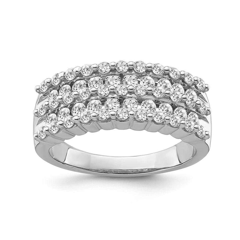 1.00 Carat Diamond Anniversary Band in 10K White Gold