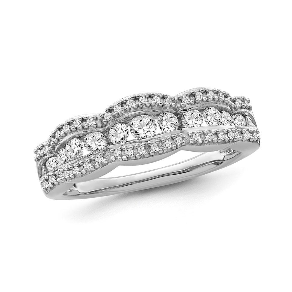 1/2 Carat Diamond Anniversary Band in 10K White Gold