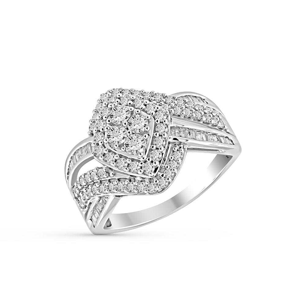 1.00 Carat Diamond Fashion Ring in 10K White Gold