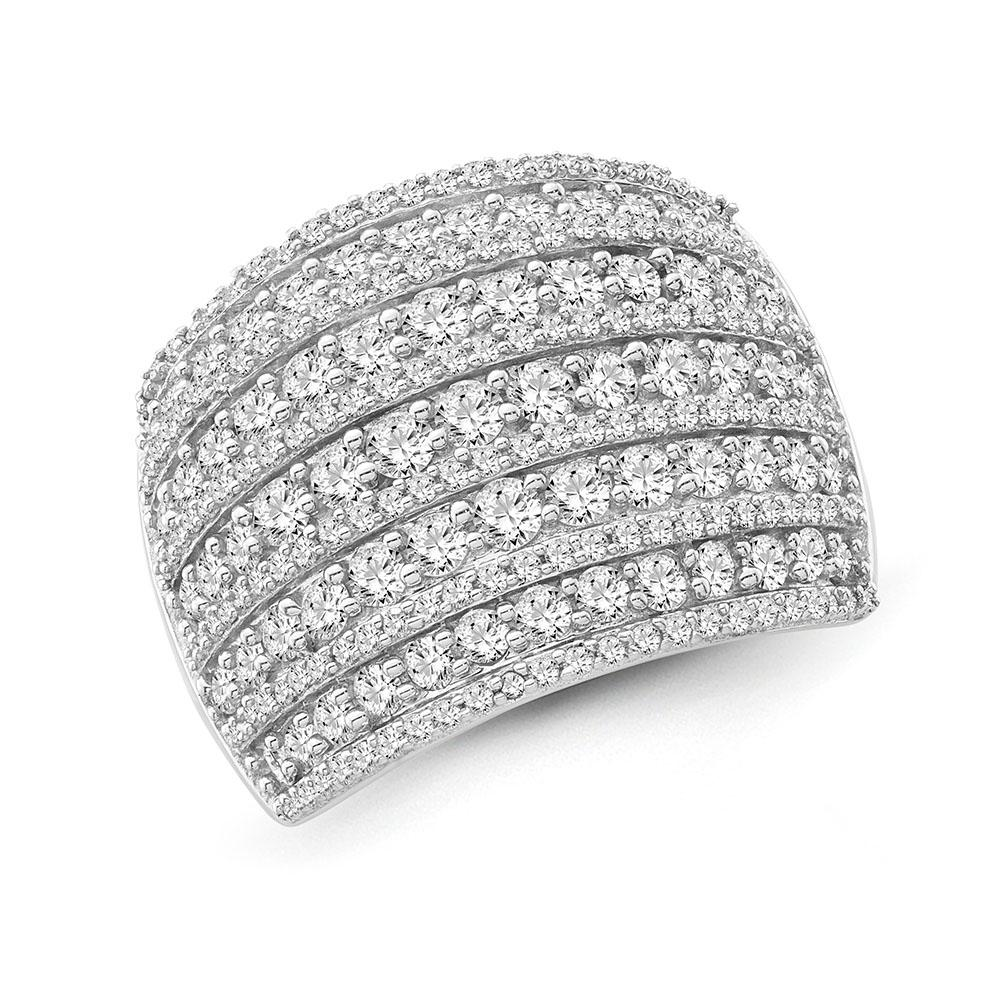 2.00 Carat Diamond Designer Ring in 10K White Gold