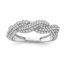 Load image into Gallery viewer, 1/2 Carat Diamond Woven Ring in 10K White Gold