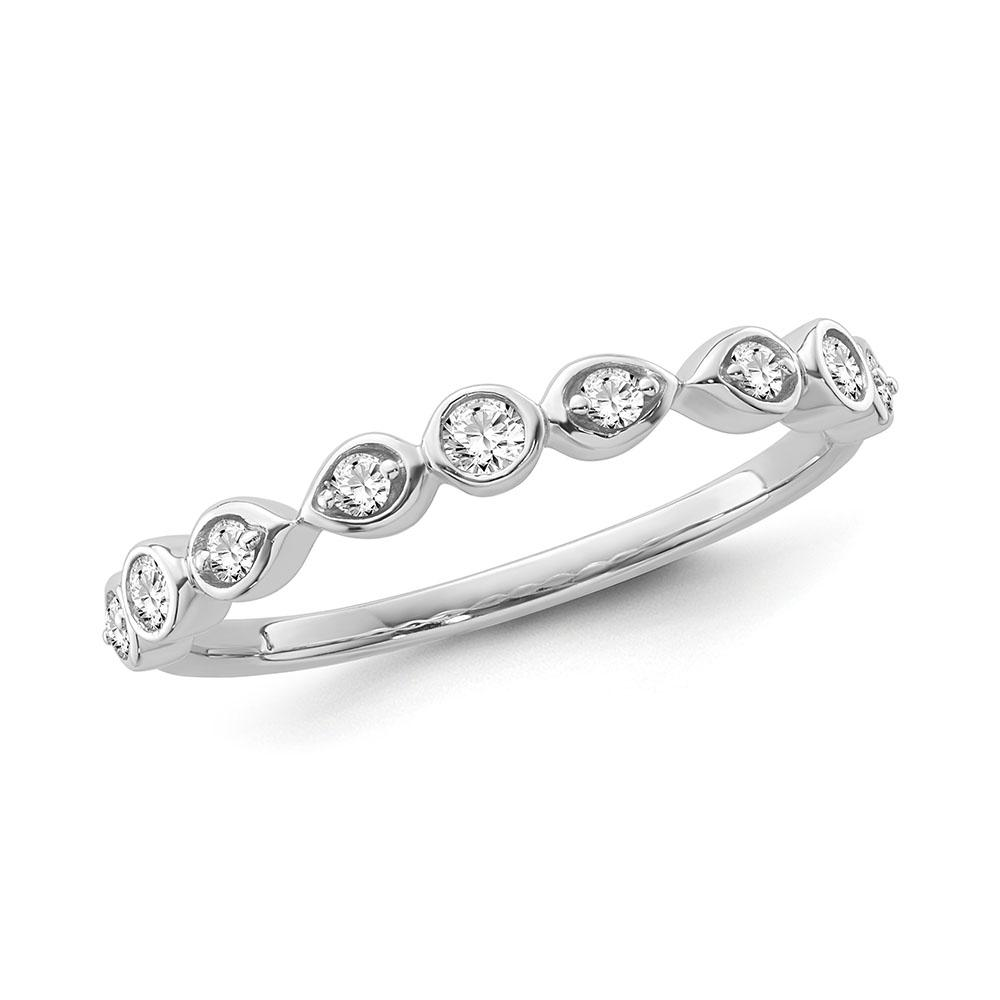 1/5 Carat Diamond Fashion Band in 10K White Gold