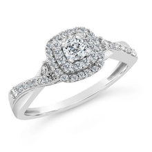 Load image into Gallery viewer, 1/3 Carat Diamond Ring in 10K White Gold