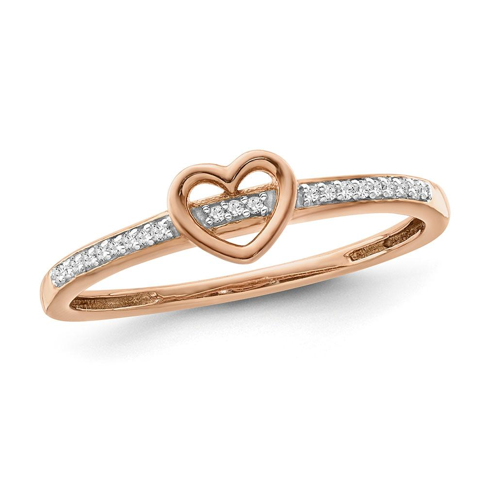 Diamond Love Band in Rose Gold-Plated Sterling Silver (0.05 cttw)