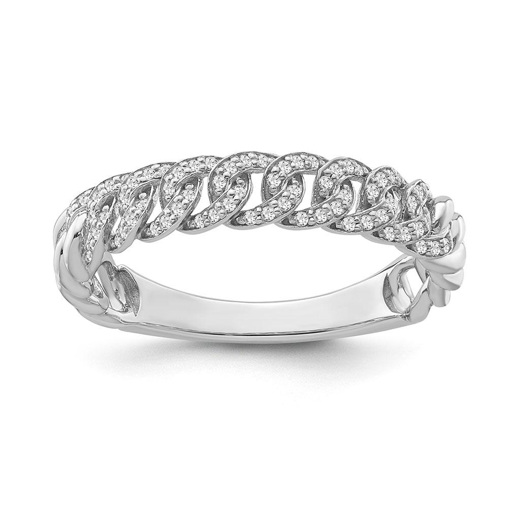 1/8 Carat Diamond Links Band in Sterling Silver