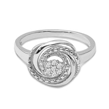Load image into Gallery viewer, Diamond Accent Swirl Ring in Sterling Silver