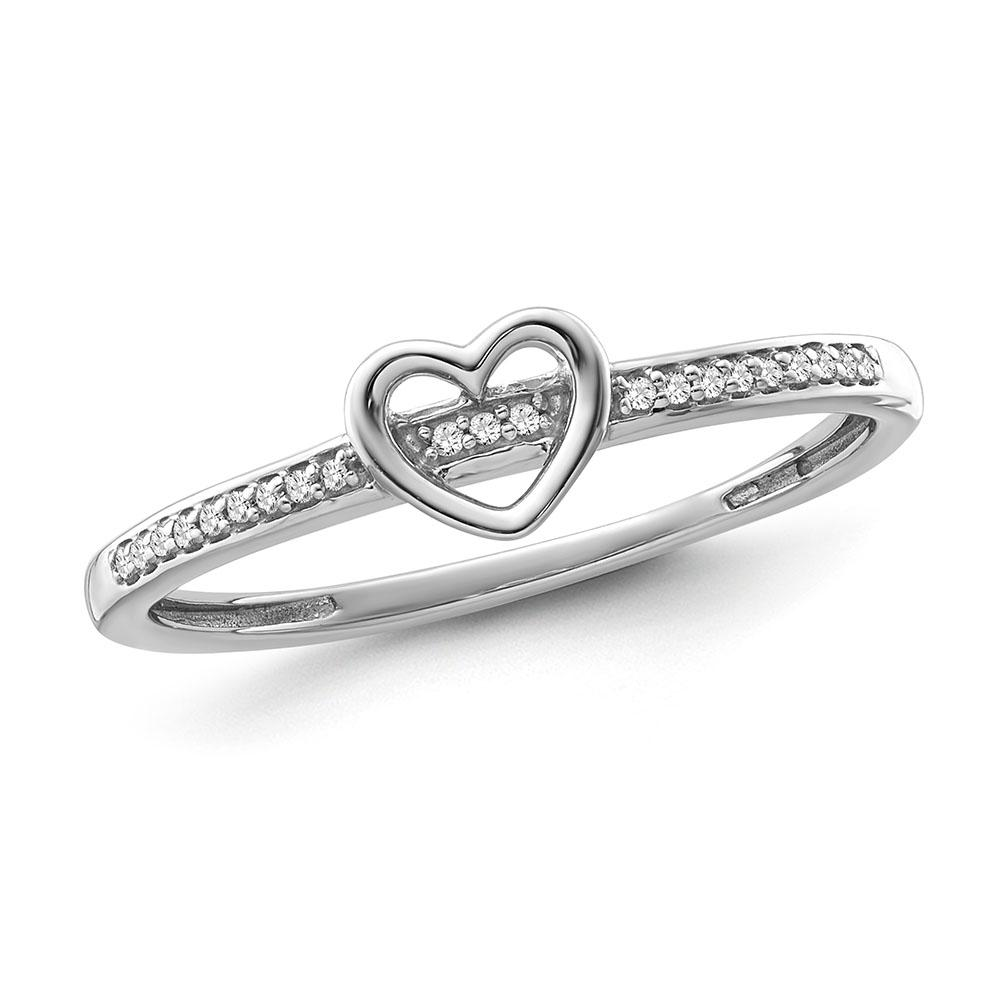 Diamond Love Band in Sterling Silver (0.05 cttw)