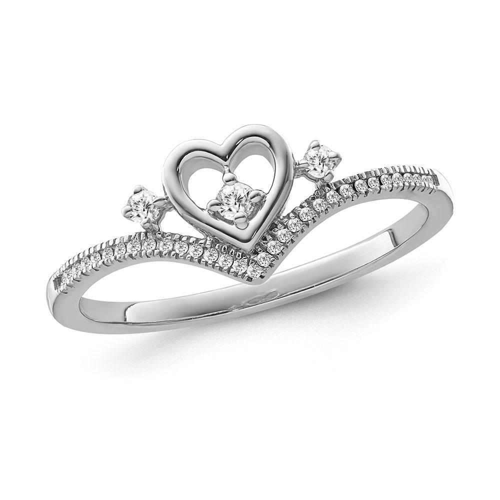 1/8 Carat Diamond 'Cherished Love' Ring in Sterling Silver