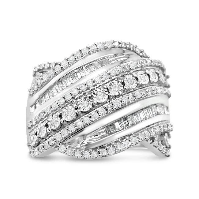 3/4 Carat Diamond Fashion Ring in Sterling Silver