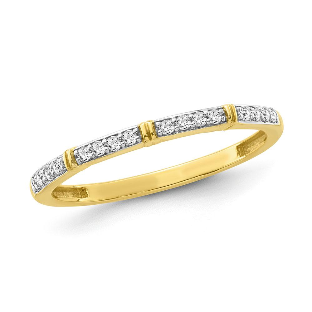 1/8 Carat Diamond Fashion Band in Yellow Gold-Plated Sterling Silver