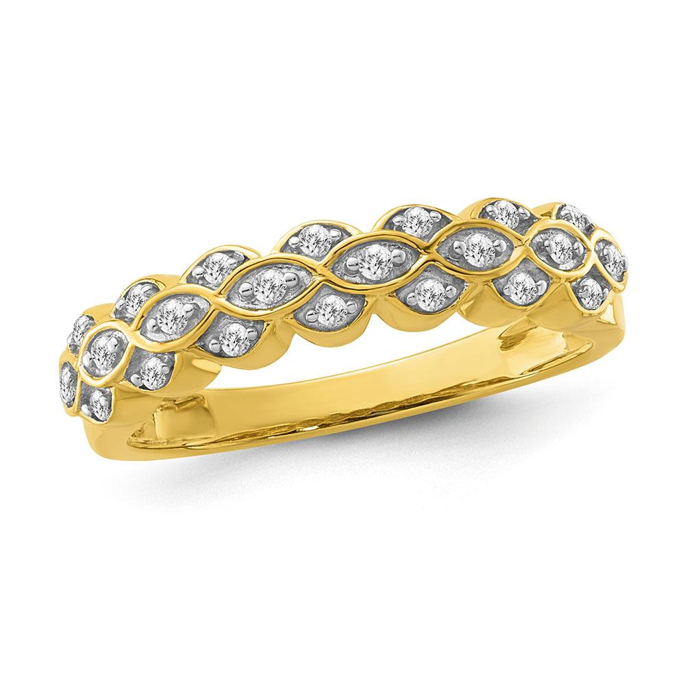 1/6 Carat Diamond Fashion Band in Yellow Gold/Sterling Silver