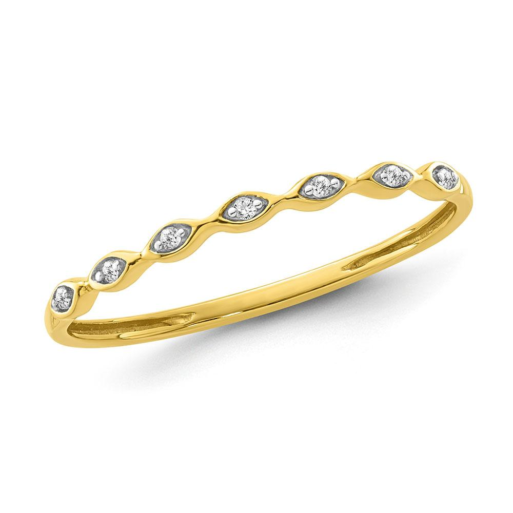 Diamond Accent Fashion Band in Yellow Gold-Plated Sterling Silver