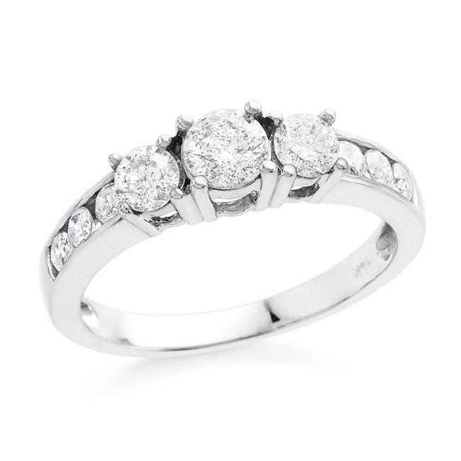 1.00 Carat Diamond Ring in 14k White Gold