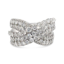 Load image into Gallery viewer, 2.50 Carat Diamond Crossover Ring in 14K White Gold
