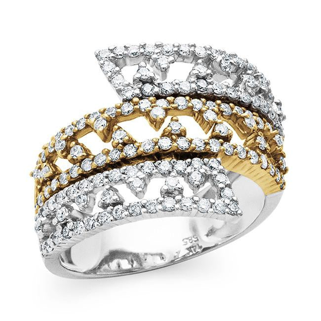1.00 Carat Diamond Fashion Ring in 14K Two Tone Gold - Size 6.5