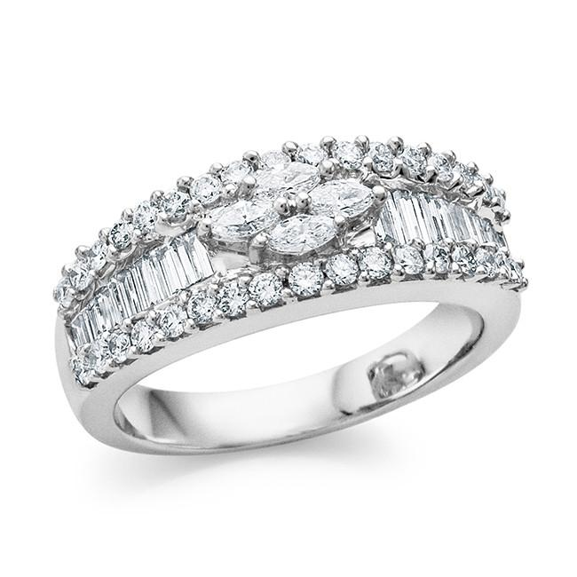 1.10 Carat Diamond Fashion Ring in 18K White Gold - Size 7