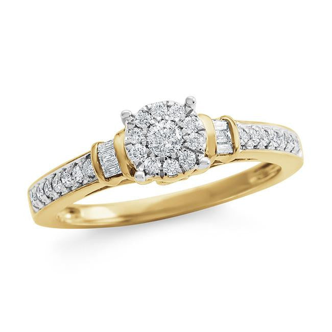 1/3 Carat Diamond Ring in 10K Yellow Gold (H-I/I2)