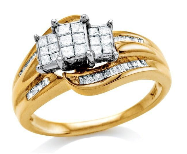 0.50 Carat Diamond Ring in Two-Tone 10K Gold