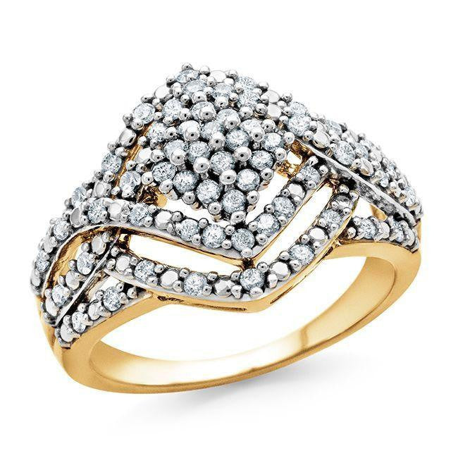 1/2 Carat Diamond Ring in 10K Yellow Gold