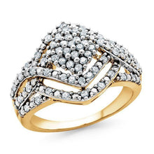 Load image into Gallery viewer, 1/2 Carat Diamond Ring in 10K Yellow Gold