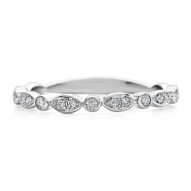 1/10 Carat Diamond Ring in 10K White Gold