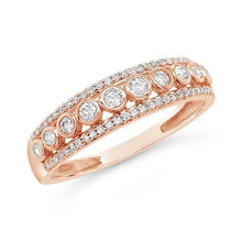 Load image into Gallery viewer, 1/4 Carat Diamond Anniversary Band in 10K Rose Gold