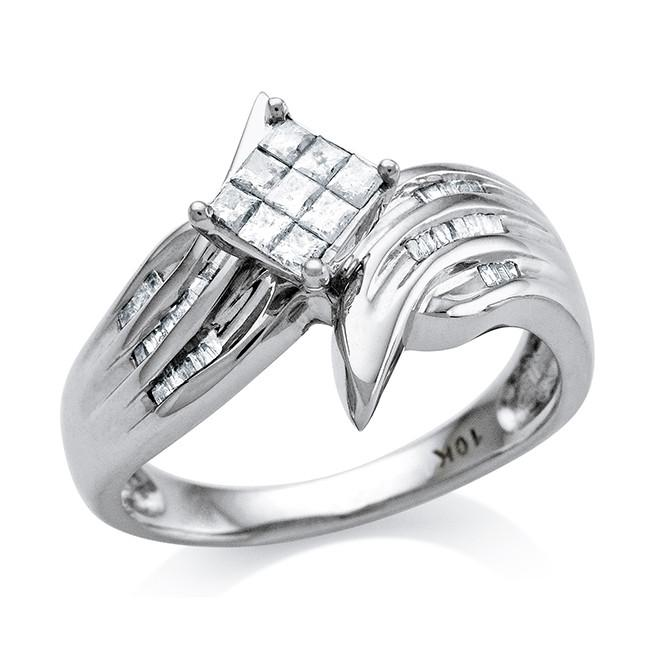 0.33 Carat Diamond Ring in 10K White Gold