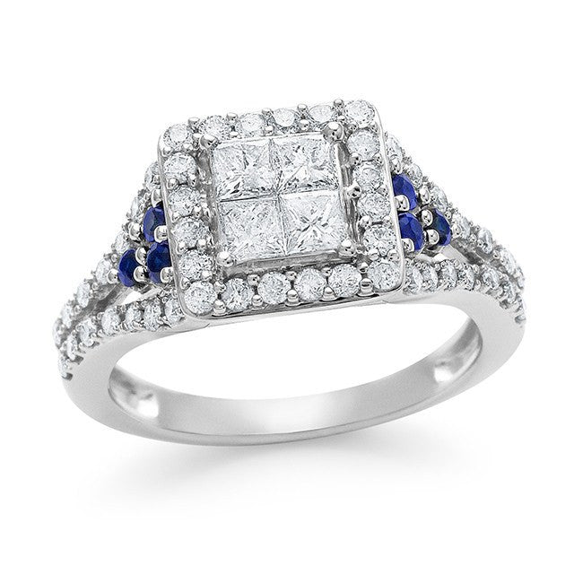 100_Carat_Diamond_&_Blue_Sapphire_Ring_in_10K_White_Gold_HII1I2