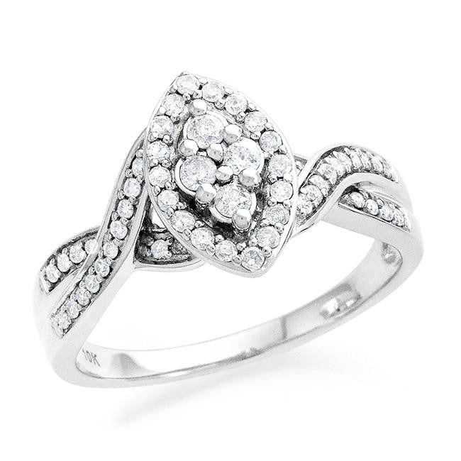 0.50 Carat Diamond Ring in 10k White Gold