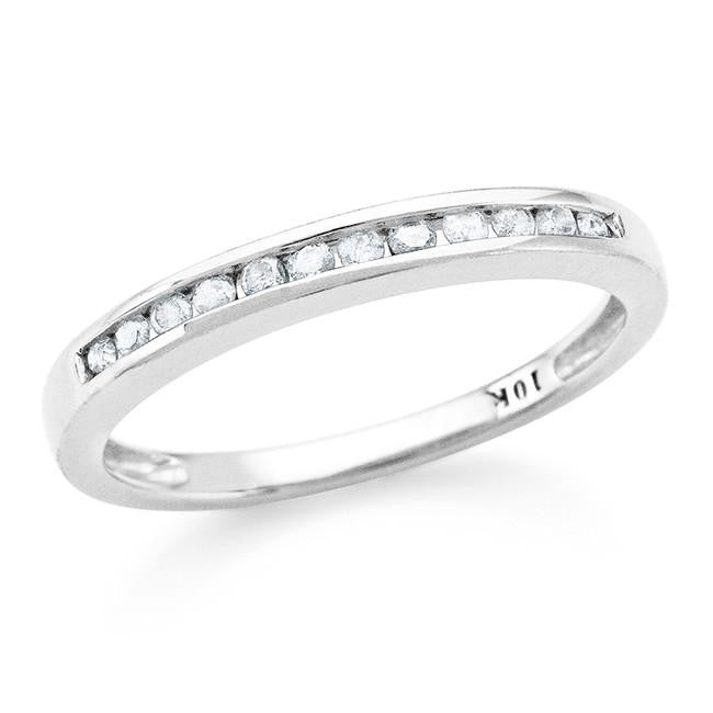 0.17 Carat Diamond Channel Set Band in 10K White Gold