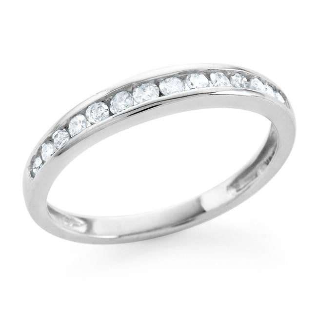0.25 Carat Diamond Channel Set Band in 10K White Gold