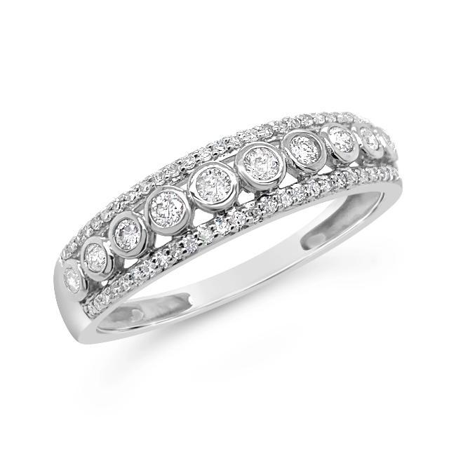 1/4 Carat Diamond Anniversary Band in 10K White Gold
