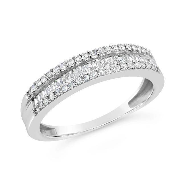 0.40 Carat Diamond Fashion Band in 10K White Gold