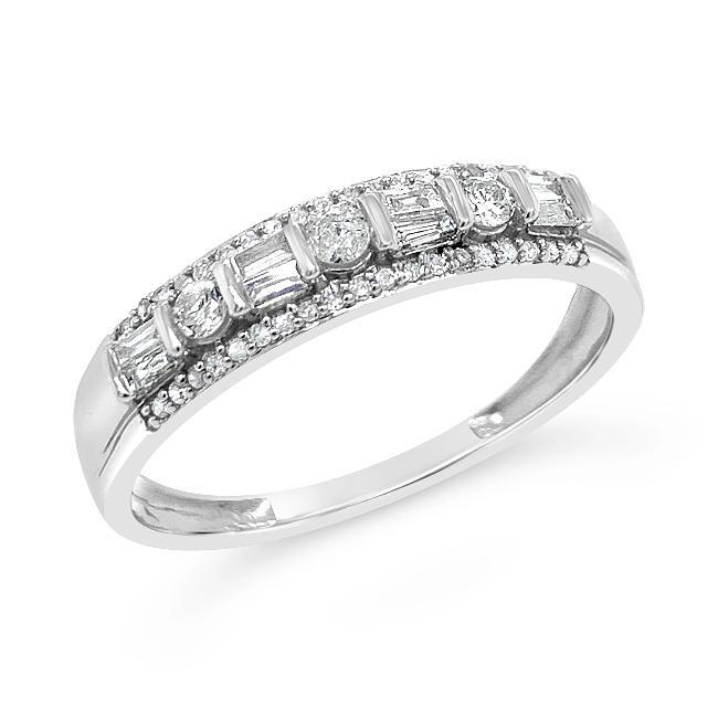 1/4 Carat Diamond Band in 10K White Gold