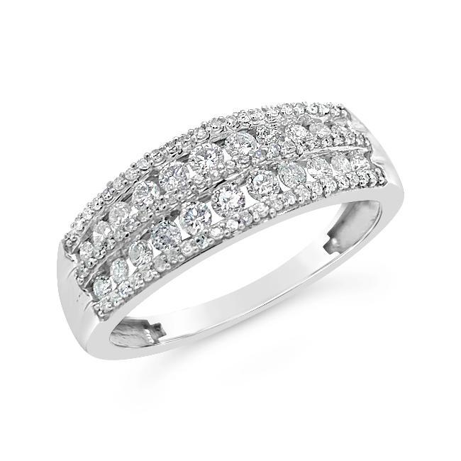 1/2 Carat Diamond Band in 10K White Gold
