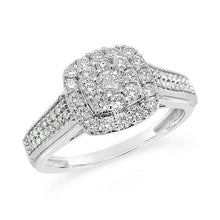 Load image into Gallery viewer, 1/2 Carat Diamond Bridal Ring in 10K White Gold