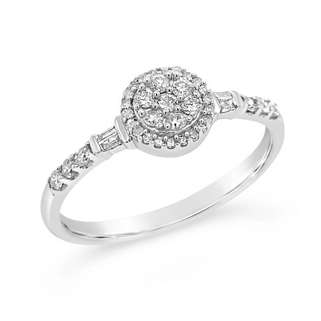 1/4 Carat Diamond Promise Ring in 10K White Gold