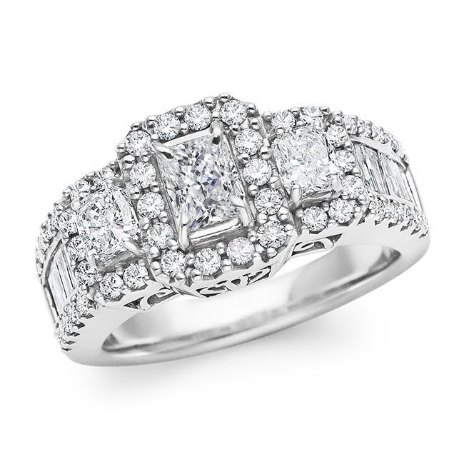 2.00 Carat Diamond Engagement Ring In 10K White Gold (G-H/SI1-SI2)