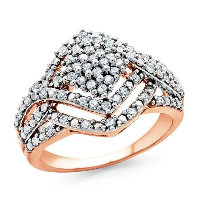 1/2 Carat Diamond Ring in 10K Rose Gold