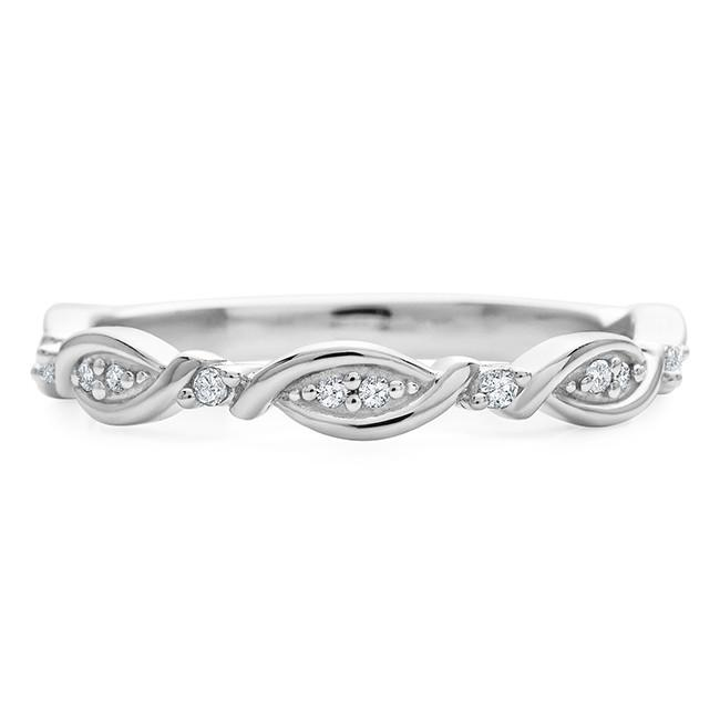 Diamond Accent Infinity Band in 10K White Gold